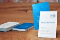 Beispiel Premium Visitenkarte mit Blindprägung