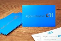 Visitenkarten Premium mit Silber