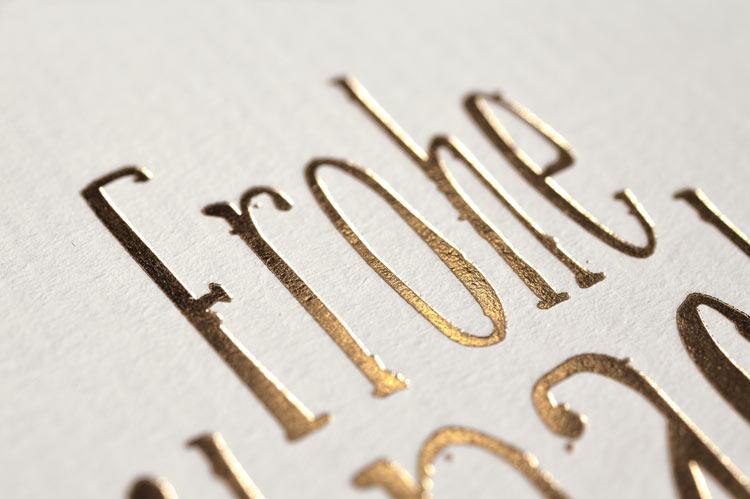 Edle Gold Prägedruck Karte