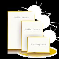 Letterpress Karten Premium