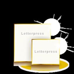 Letterpress Karten Quadratisch