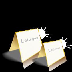 Letterpress Klappkarten Quadratisch