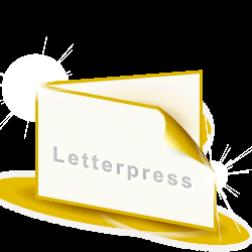 Letterpress Klappvisitenkarten