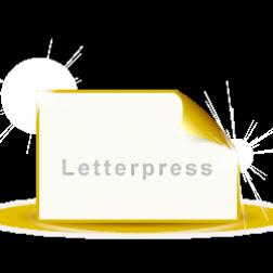 Letterpress Visitenkarten Premium
