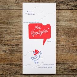 """Karte """"Mei Spatzerl"""""""