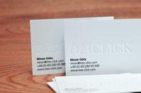 Premium Visitenkarte Beispiel Tres-Click