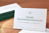 Premium Visitenkarten mit grünem Farbschnitt