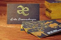 Beispiel edle Visitenkarten mit Spezialpapier