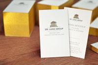 Premium Visitenkarten mit Goldrand