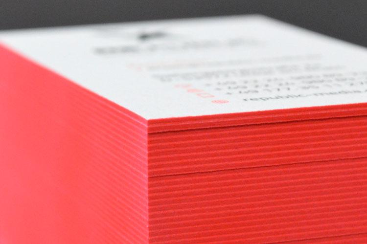 Farbschnitt Auf Papier
