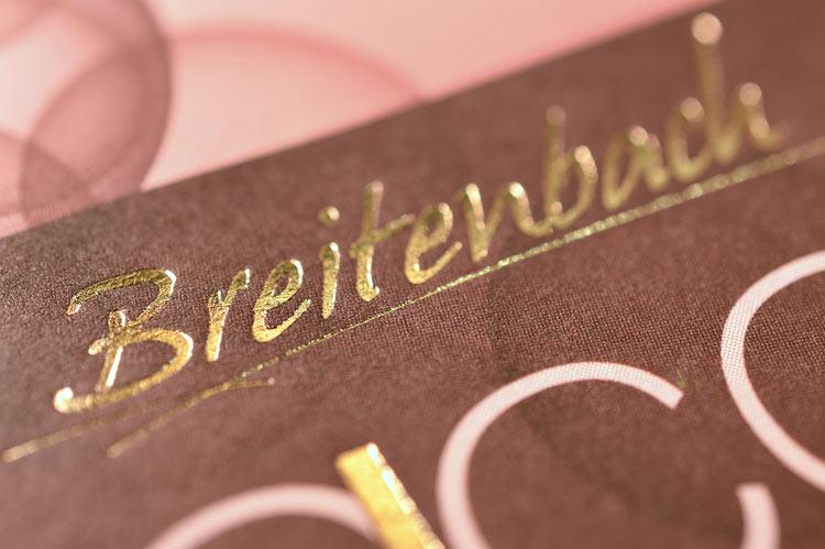 Beispiel Breitenbach Prägedruck tiefgeprägt