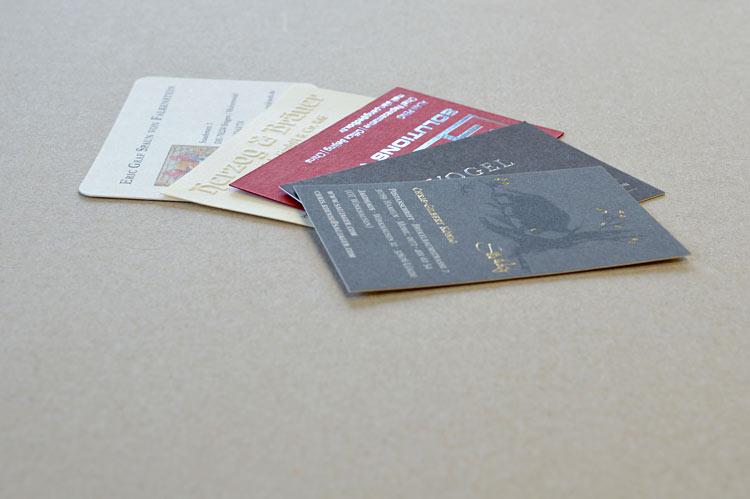 Beispiel 1 - Prägedruck Visitenkarten